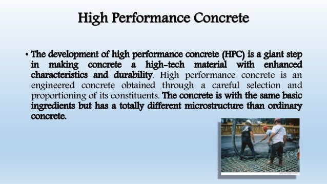 High Strength and High Performance Concrete Materials and Difference