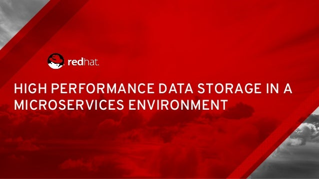 HIGH PERFORMANCE DATA STORAGE IN A MICROSERVICES ENVIRONMENT