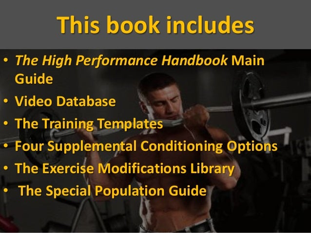 High Performance Handbook Is The Most Effective Program That Can Enha