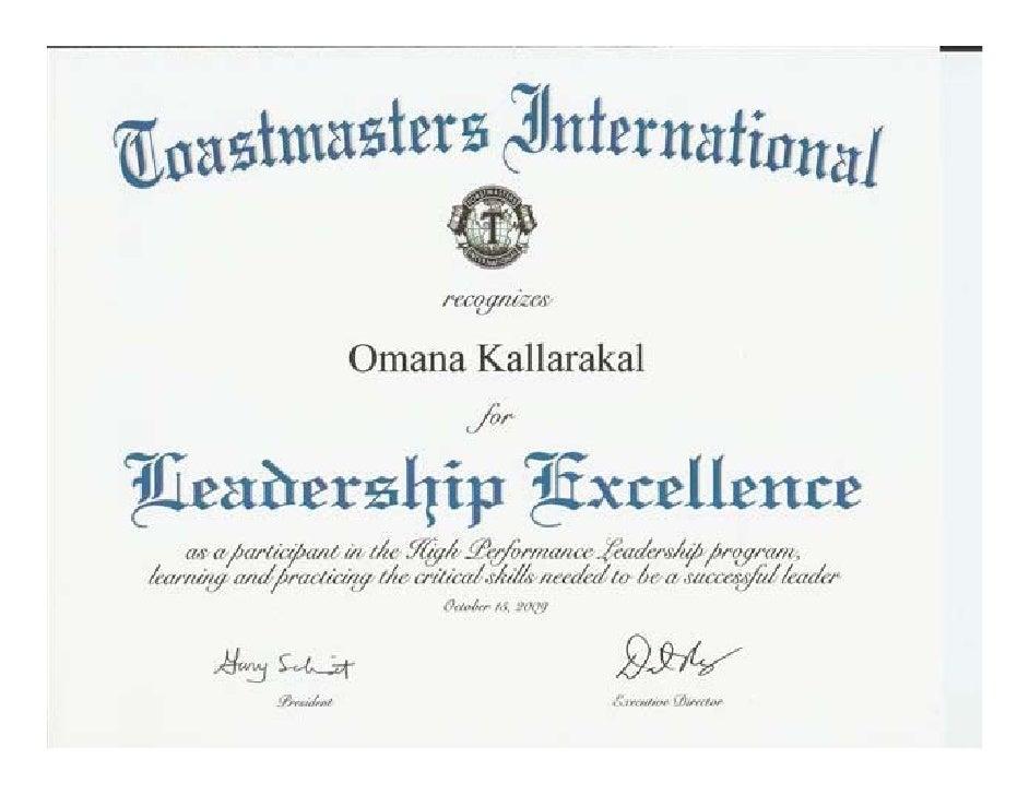 High Performance Leadership Project by Omana Kallarakal Slide 2