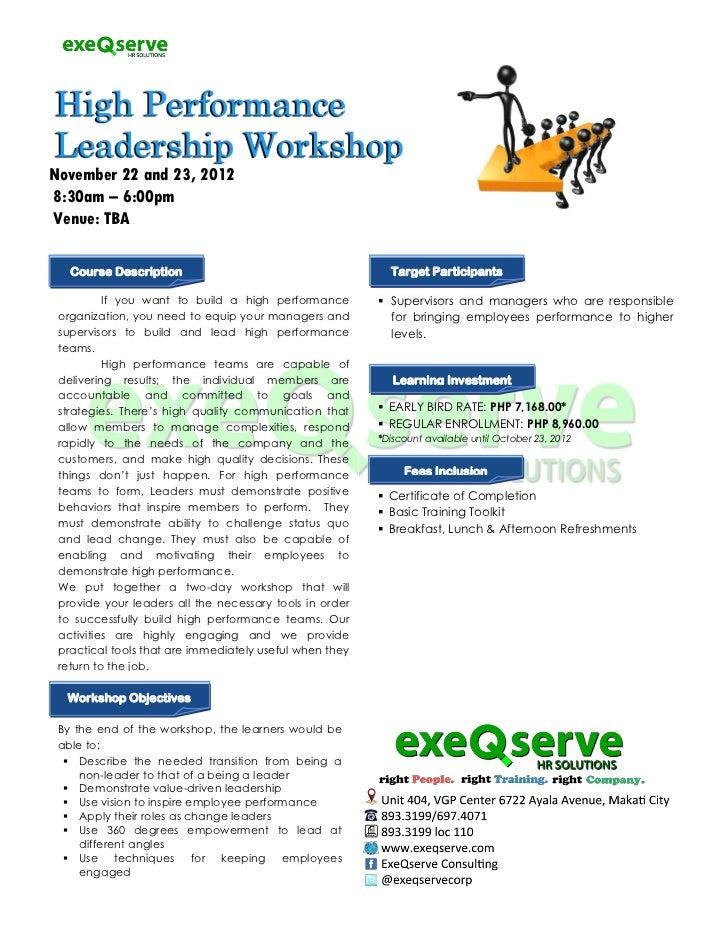 November 22 and 23, 20128:30am – 6:00pmVenue: TBA   Course Description                                      Target Partici...