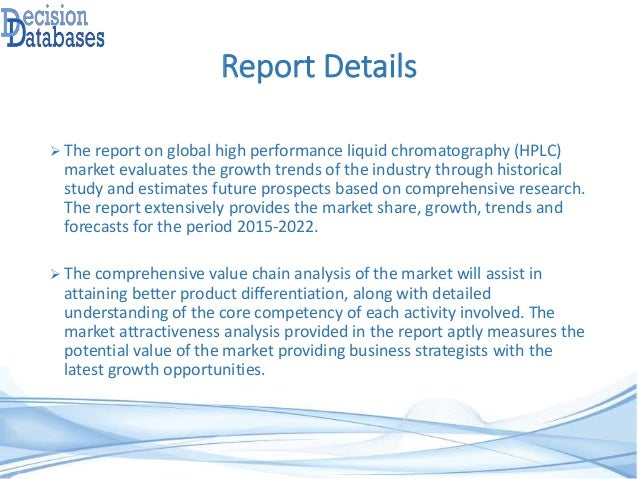 Research On High Performance Liquid Chromatography (HPLC