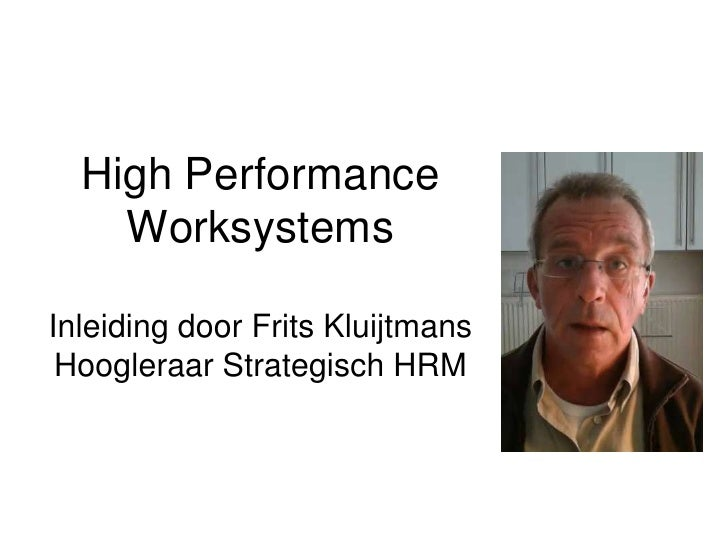 high performance work systems This article argues that there are two lines of analysis in the high‐performance  work systems literature that are important for hr researchers.