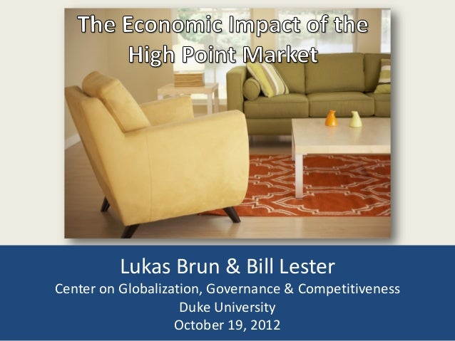 Lukas Brun & Bill Lester Center on Globalization, Governance & Competitiveness Duke University October 19, 2012