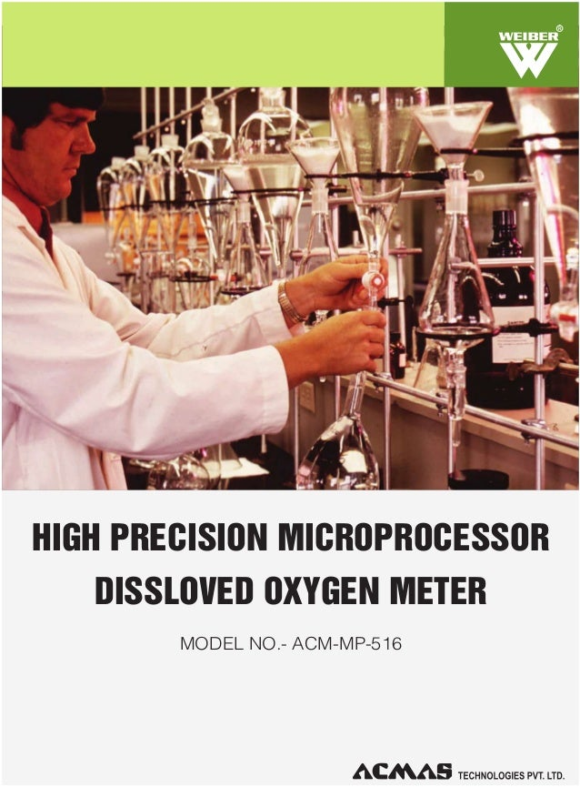 R  HIGH PRECISION MICROPROCESSOR DISSLOVED OXYGEN METER MODEL NO.- ACM-MP-516