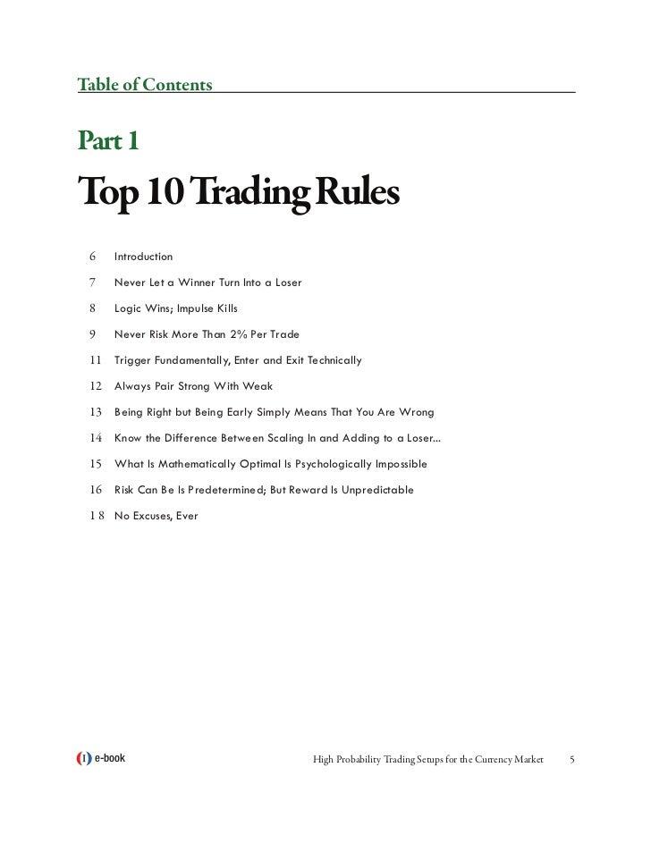 High probability trading strategies cd free