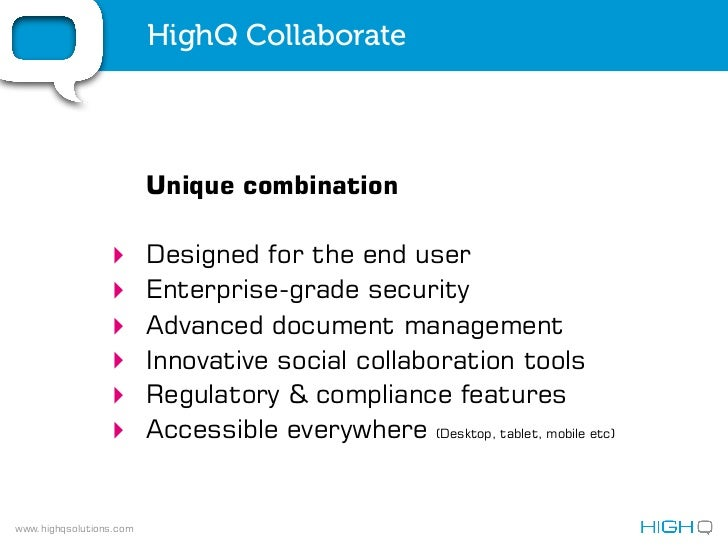 HighQ - Life Sciences Industry Solution
