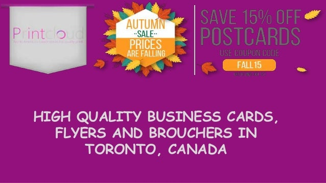 High quality business cards flyers and brouchers in toronto canada reheart Images