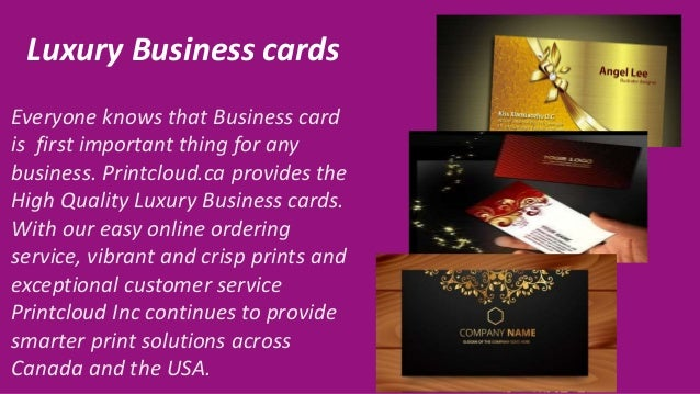 High quality business cards flyers and brouchers in toronto canada 3 luxury business cards reheart Images