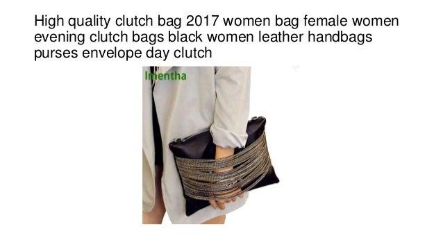 High quality clutch bag 2017 women bag female women evening clutch bags  black women leather handbags ... 36efce74f1721