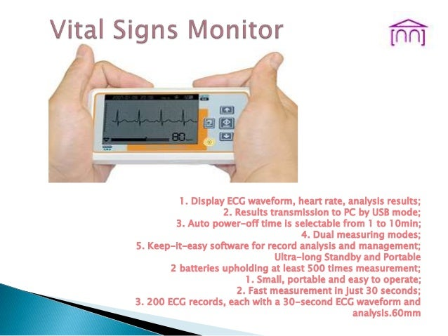1. Display ECG waveform, heart rate, analysis results; 2. Results transmission to PC by USB mode; 3. Auto power-off time i...