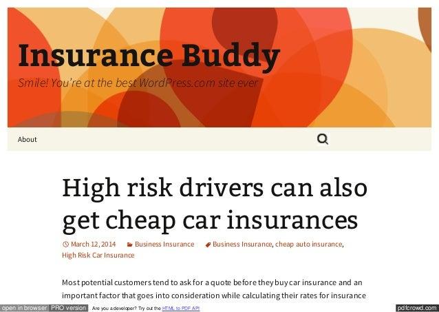High Risk Car Insurance >> High Risk Car Insurance