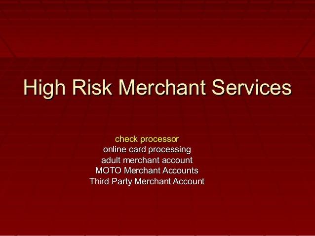 Adult merchant accounts