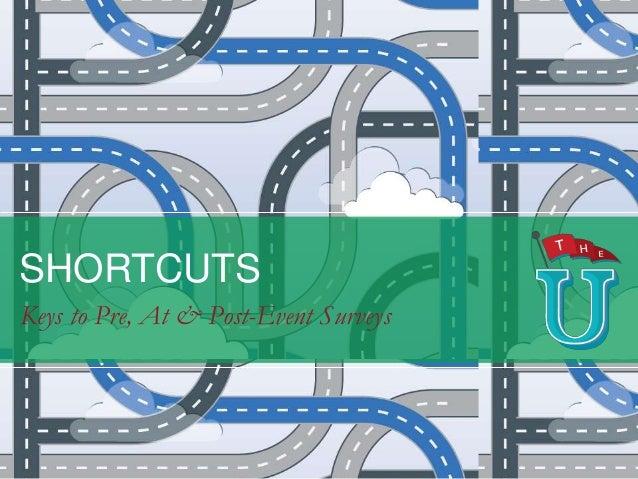 SHORTCUTS Keys to Pre, At & Post-Event Surveys