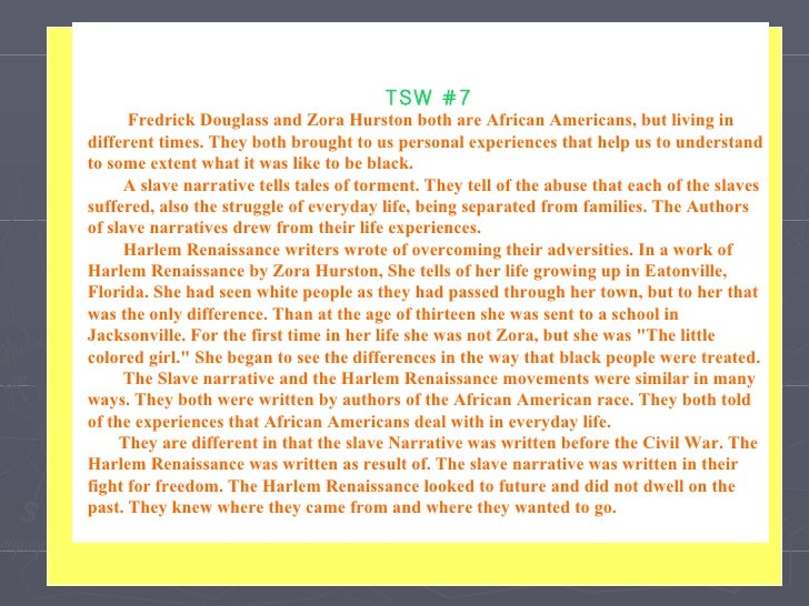 a narrative of the life and african american literature work of fredrick douglass Published his narrative of the life of frederick douglass in 1845  a primary source is a work that is being studied,  african-american literature.