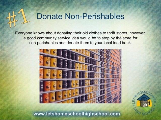 fun community service ideas for high school