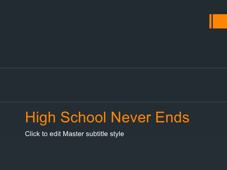 High School Never EndsClick to edit Master subtitle style