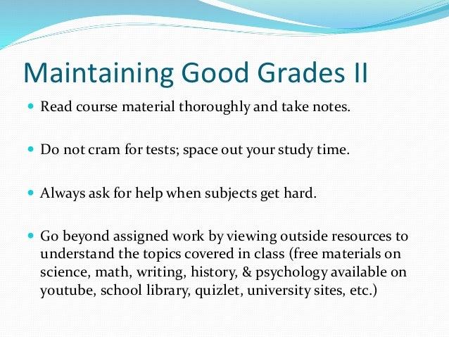 how do i get good grades in high school