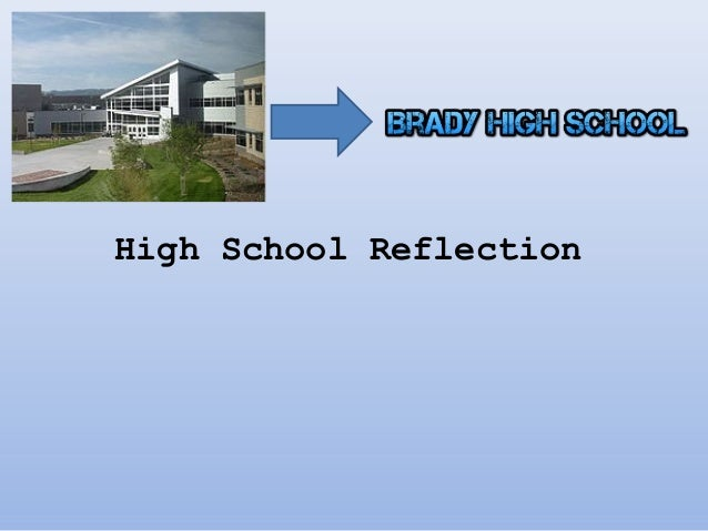 """high school reflection By julia tartaglia you know the old saying, """"hindsight is 20/20"""" in high school, when you are picking classes, choosing extracurriculars, or preparing for college, it's hard to know if you're making the right decisions."""
