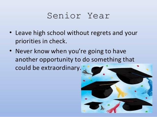 senior year of high school
