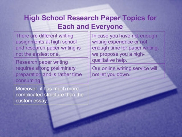 Research paper on recruitment in high schools