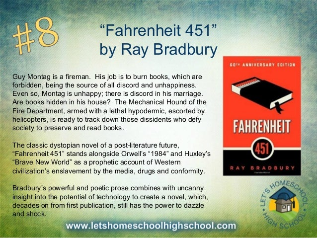 an analysis of man and society in fahrenheit 451 and brave new world ray and huxley The famous novel falls into the same dystopian genre as other great works such as fahrenheit 451 by ray bradbury, brave new world by aldus huxley , and orwell's very own allegorical animal farm [tags: literary, character, historical analysis.