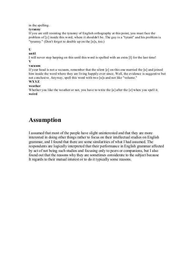 Thesis limitations