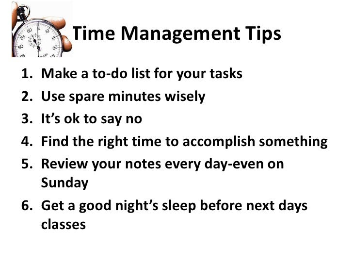Time management powerpoint presentation for high school students