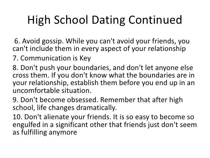 Dating advice high school bbc news online dating