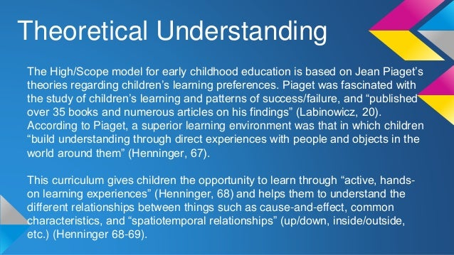 Lasting Differences: The High/Scope Preschool Curriculum ...