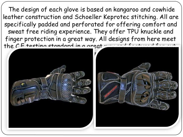 High specification motorcycle gloves with numerous features from velocity gear Slide 3