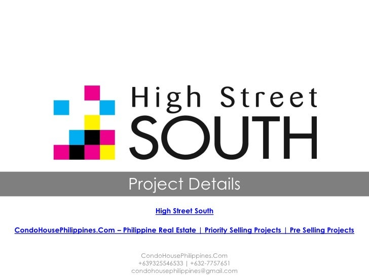 Project Details                                         High Street SouthCondoHousePhilippines.Com – Philippine Real Estat...