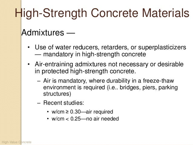 strength of concrete 51 care must be exercised in the interpretation of the significance of compressive strength determinations by this test method since strength is not a fundamental or intrinsic property of concrete made from given materials.