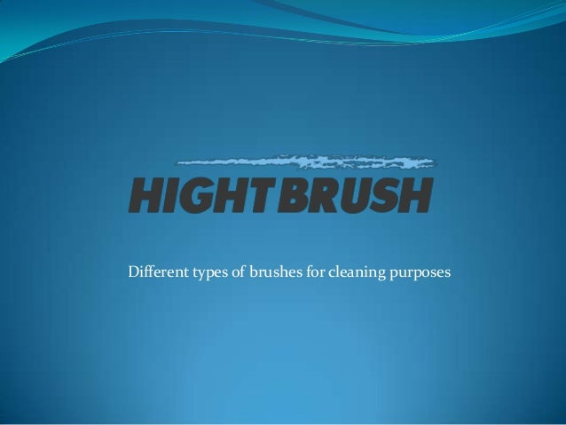 Different types of brushes for cleaning purposes