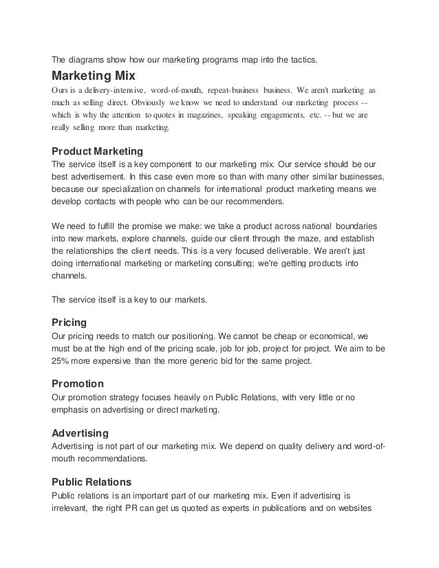 High tech consulting marketing plan
