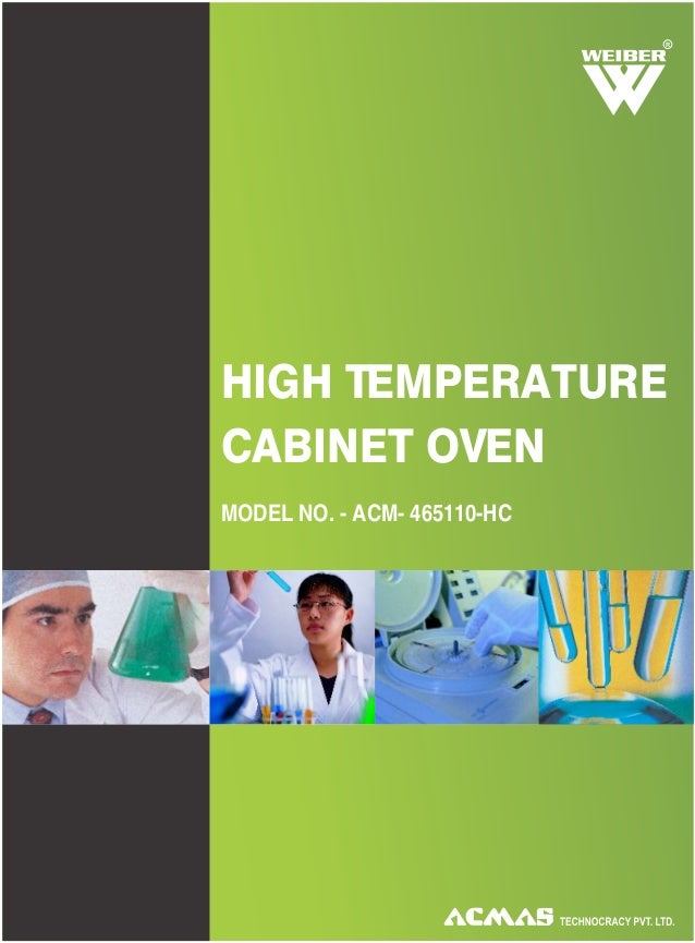 R HIGH TEMPERATURE CABINET OVEN MODEL NO. - ACM- 465110-HC