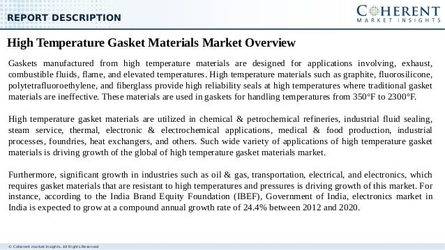 High Temperature Gasket Materials Market - Size, Share, Trends, and F…