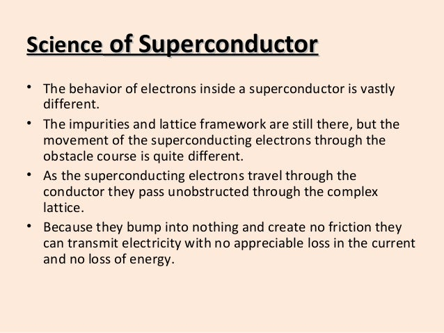 Superconductors and superconducting materials selection guide.