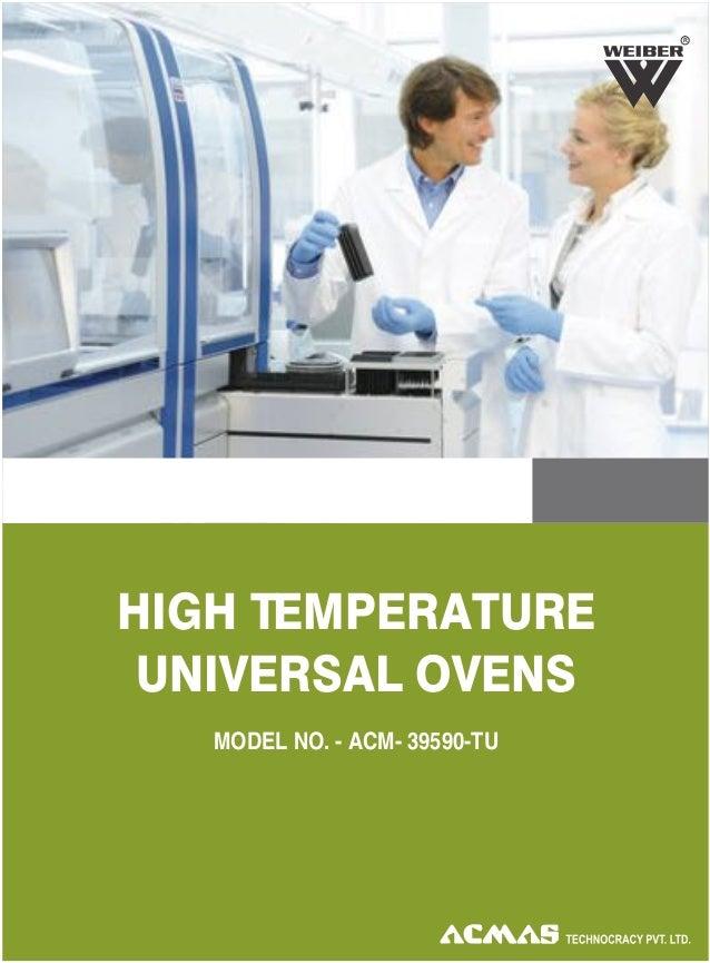 HIGH TEMPERATURE UNIVERSAL OVENS R MODEL NO. - ACM- 39590-TU