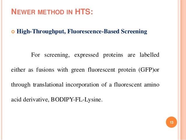High Throughput Screening Of Natural Product
