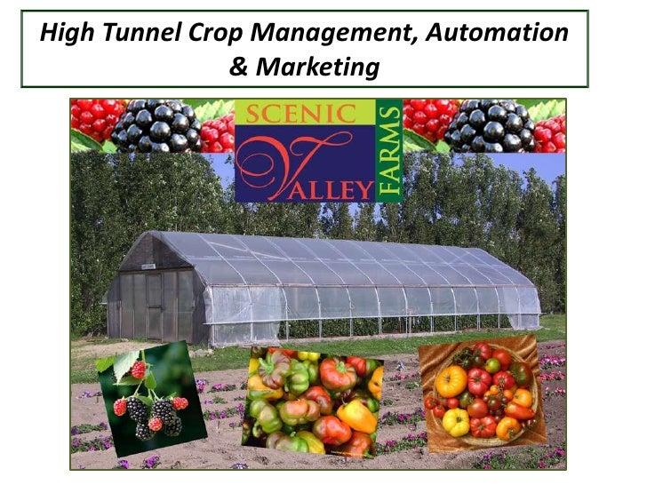 High Tunnel Crop Management, Automation               & Marketing