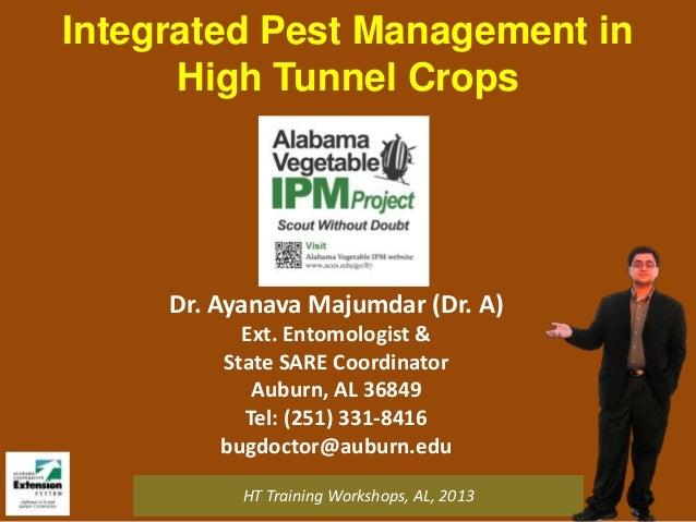 Integrated Pest Management in High Tunnel Crops  Dr. Ayanava Majumdar (Dr. A) Ext. Entomologist & State SARE Coordinator A...