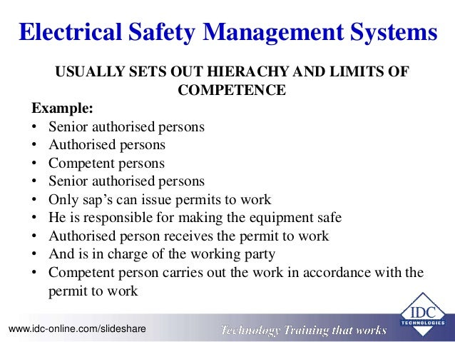 High Voltage Electrical Compliance and Safety Operating Procedures