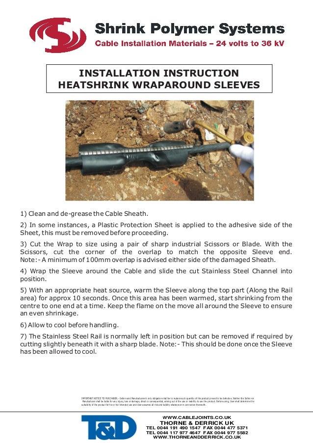 High Voltage Hv Heat Shrink Cable Sheath Repair Kits