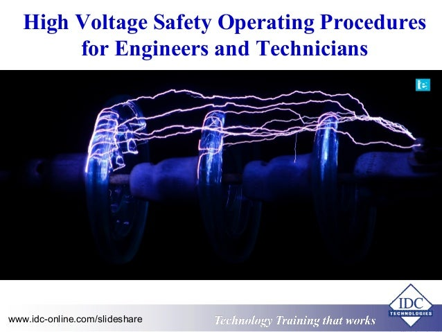 High Voltage Operator : High voltage safety operating procedures for engineers and