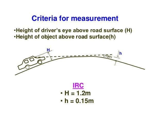Analysis of SSD • The stopping sight distance is the sum of lag distance and the braking distance. Lag distance: • It is t...