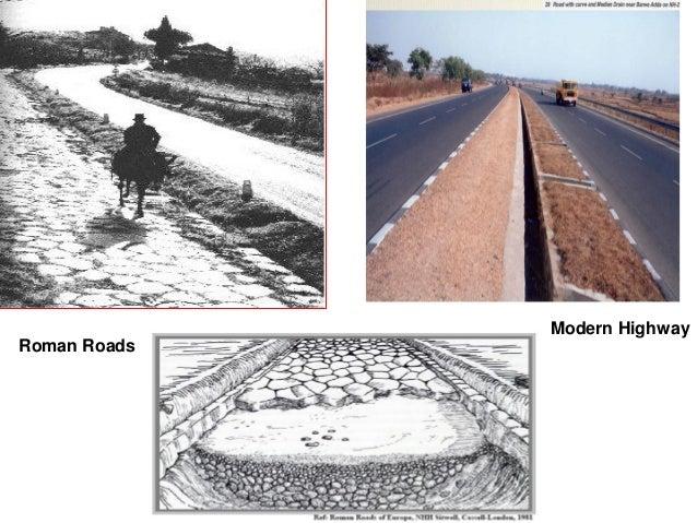 Roman Roads Modern Highway
