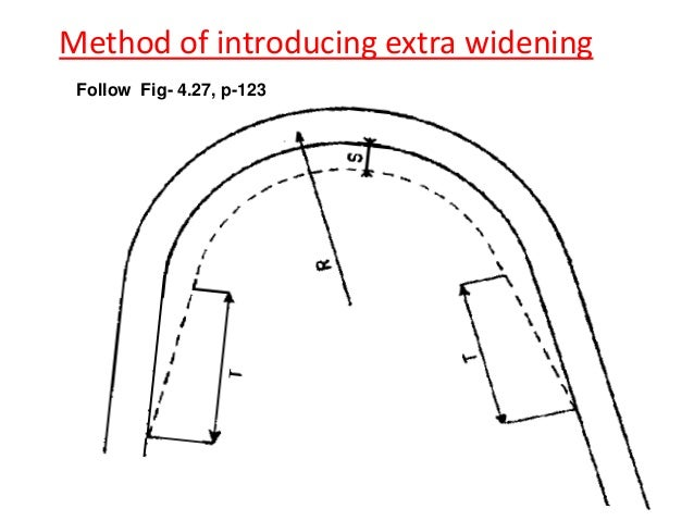 case-2:Rate of introduction of super-elevation • If the pavement is rotated about the center line. • If the pavement is ro...