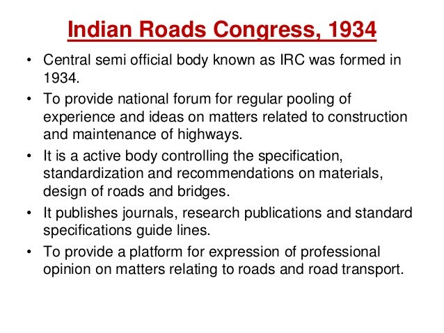 Indian Road Congress Codes Pdf
