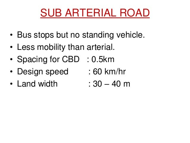 Highway notes planning alignment geometric design sub arterial road sciox Choice Image